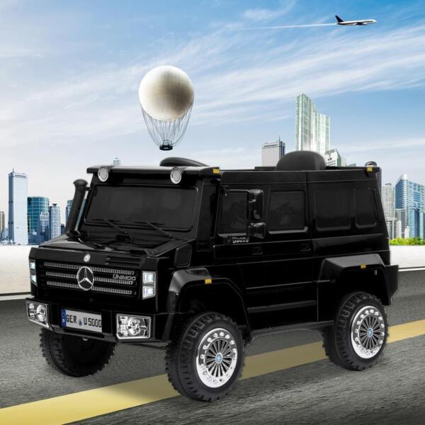12V Mercedes Benz Unimog U500, Black 12v mercedes benz unimog u500 black 9