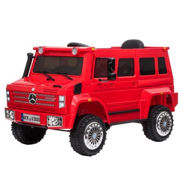 6V Mercedes Benz Unimog U500 Kids Ride on SUV Car with Remote Control, Red 12v mercedes benz unimog u500 red 1