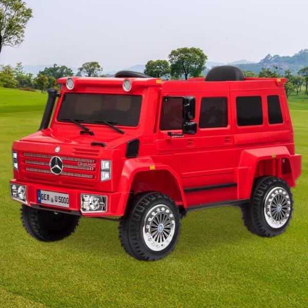 12V Mercedes Benz Unimog U500, Red 12v mercedes benz unimog u500 red 12