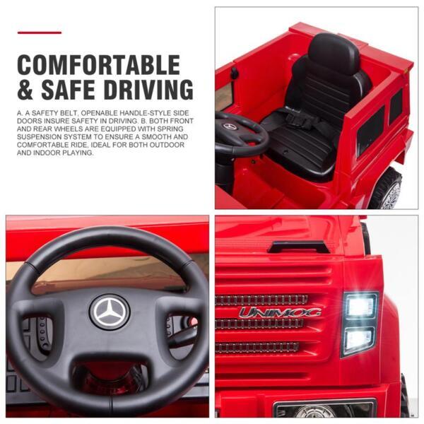 12V Mercedes Benz Unimog U500, Red 12v mercedes benz unimog u500 red 28