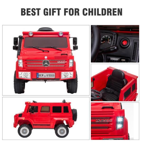 12V Mercedes Benz Unimog U500, Red 12v mercedes benz unimog u500 red 29
