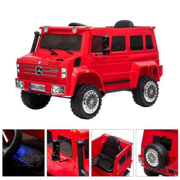 12V Mercedes Benz Unimog U500, Red 12v mercedes benz unimog u500 red 32