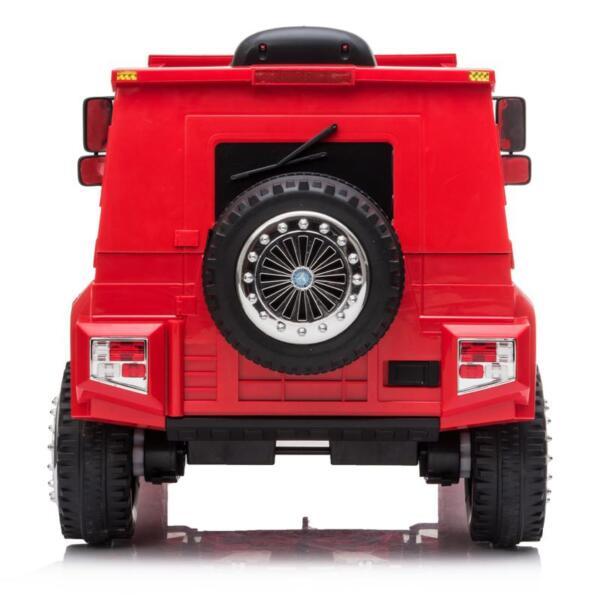 12V Mercedes Benz Unimog U500, Red 12v mercedes benz unimog u500 red 4