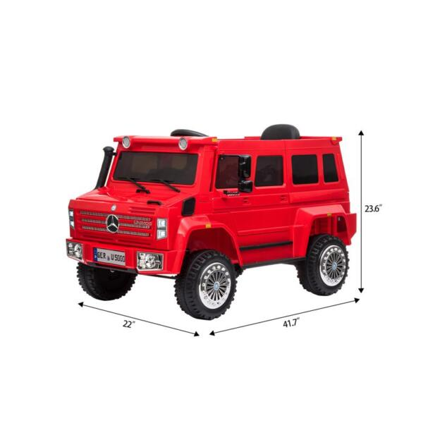 6V Mercedes Benz Unimog U500 Kids Ride on SUV Car with Remote Control, Red 12v mercedes benz unimog u500 red 7