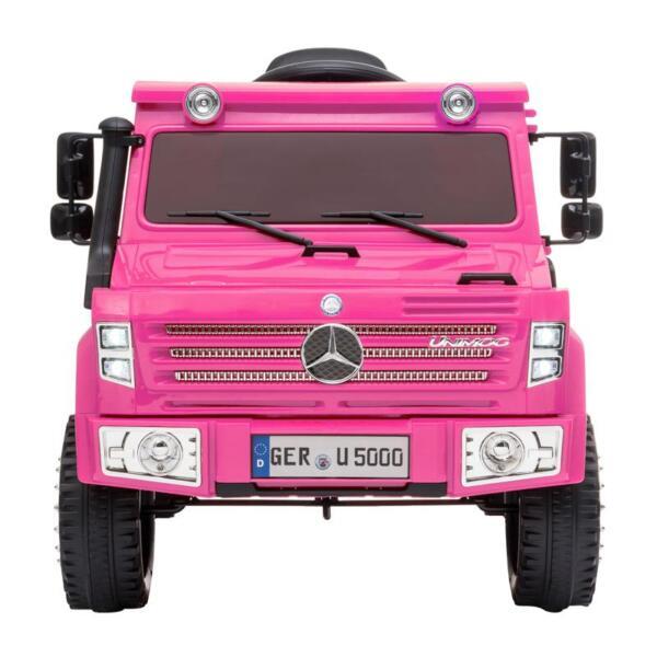 12V Mercedes Benz Unimog U500, Rose Red 12v mercedes benz unimog u500 rose red 0