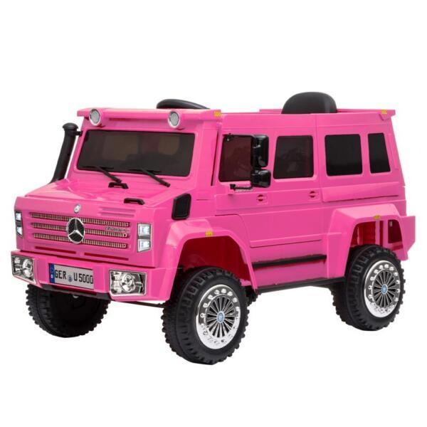 6V Mercedes Benz Unimog U500 Kids Ride on SUV Car with Remote Control, Rose Red 12v mercedes benz unimog u500 rose red 1