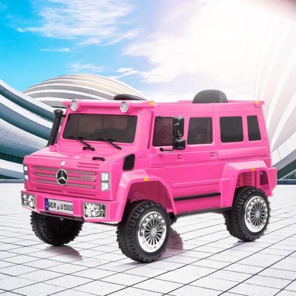 12V Mercedes Benz Unimog U500, Rose Red 12v mercedes benz unimog u500 rose red 14