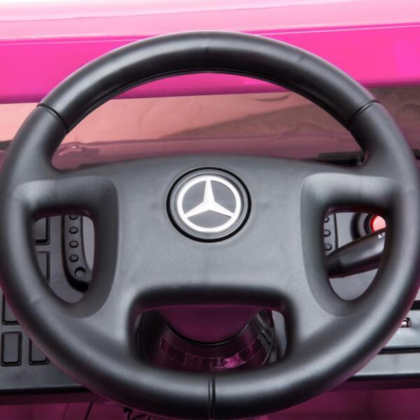 12V Mercedes Benz Unimog U500, Rose Red 12v mercedes benz unimog u500 rose red 24