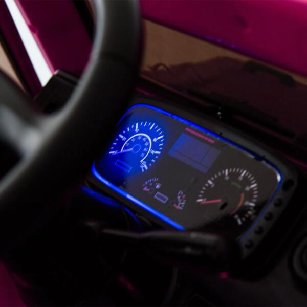 12V Mercedes Benz Unimog U500, Rose Red 12v mercedes benz unimog u500 rose red 31