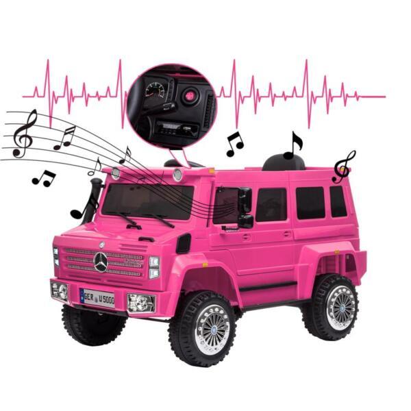 12V Mercedes Benz Unimog U500, Rose Red 12v mercedes benz unimog u500 rose red 34