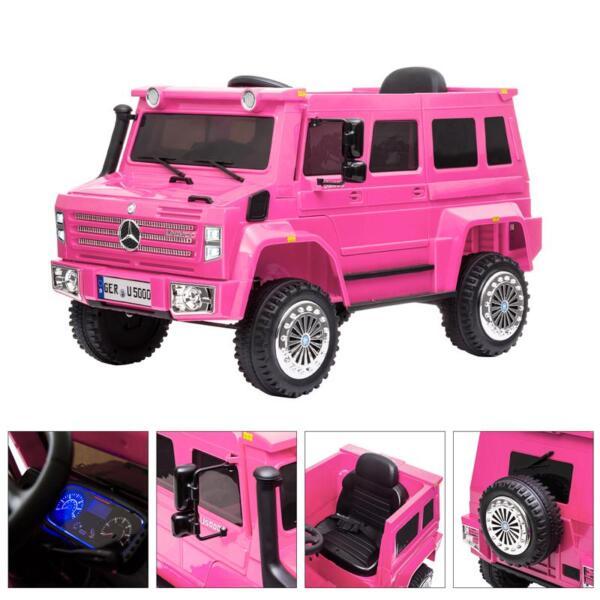 12V Mercedes Benz Unimog U500, Rose Red 12v mercedes benz unimog u500 rose red 36