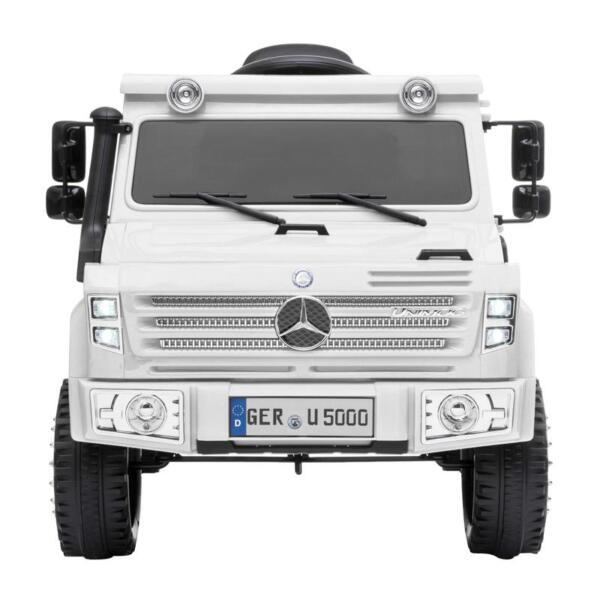 12V Mercedes Benz Unimog U500, White 12v mercedes benz unimog u500 white 0