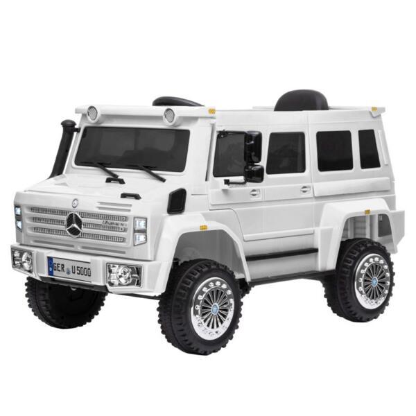 6V Mercedes Benz Unimog U500 Kids Ride on SUV Car with Remote Control, White 12v mercedes benz unimog u500 white 1