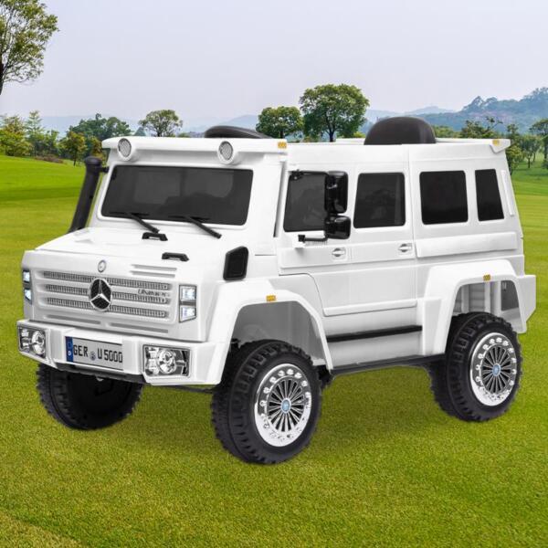 12V Mercedes Benz Unimog U500, White 12v mercedes benz unimog u500 white 12