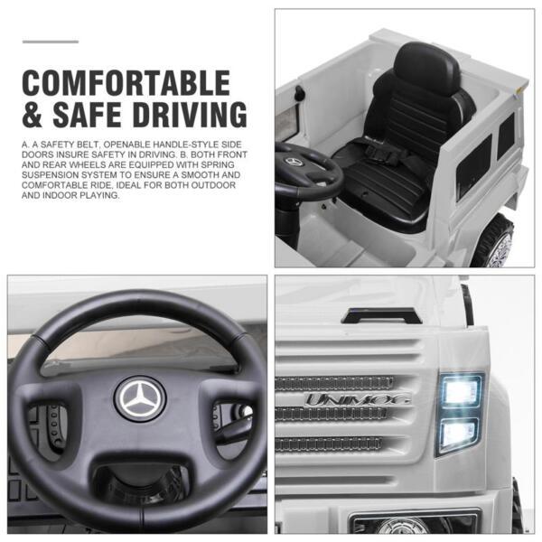 12V Mercedes Benz Unimog U500, White 12v mercedes benz unimog u500 white 28
