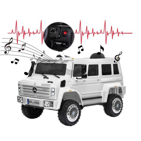12V Mercedes Benz Unimog U500, White 12v mercedes benz unimog u500 white 30