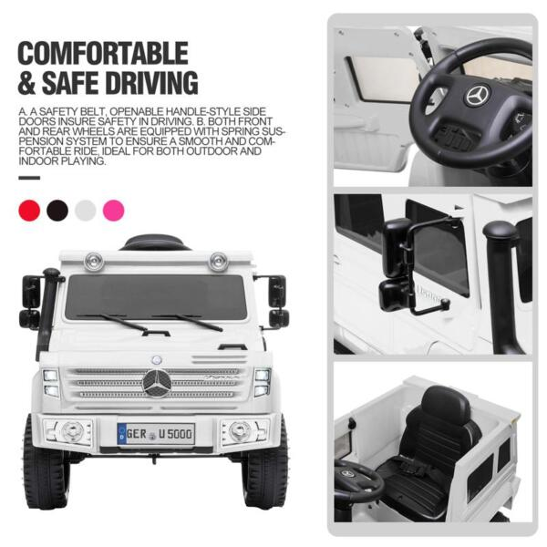 12V Mercedes Benz Unimog U500, White 12v mercedes benz unimog u500 white 31 1