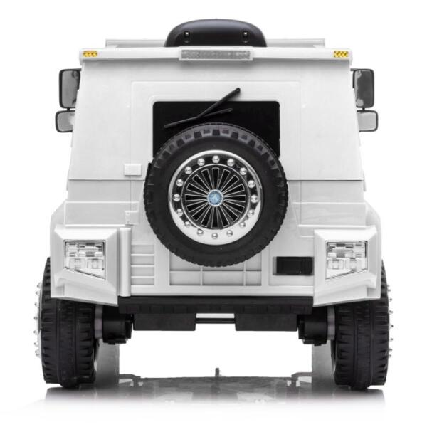 12V Mercedes Benz Unimog U500, White 12v mercedes benz unimog u500 white 4