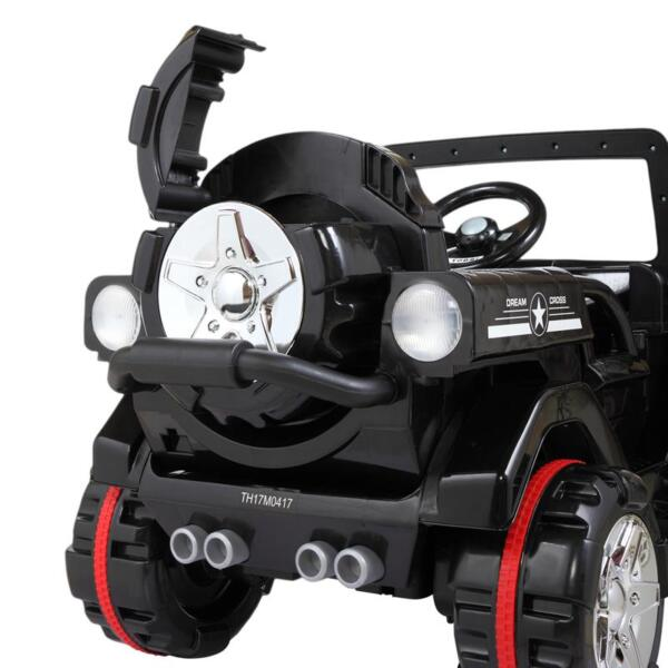 12V Electric Kids Ride-on SUV Toy Car, Black 12v powerful kids electric suv black 2 12