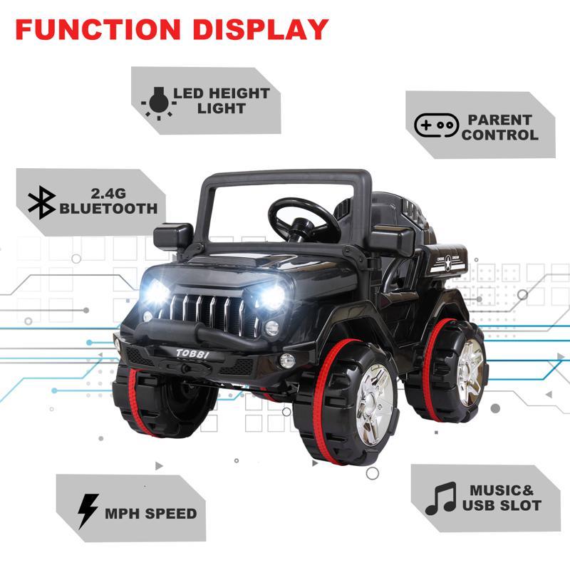12V Electric Kids Ride-on SUV Toy Car, Black 12v powerful kids electric suv black 2 14 1