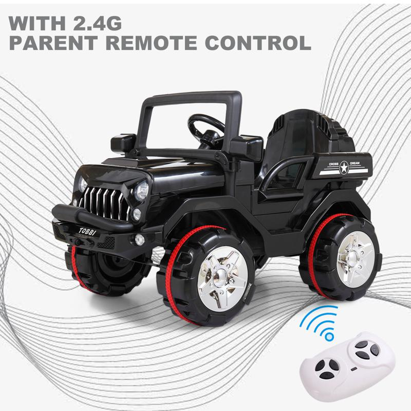 12V Electric Kids Ride-on SUV Toy Car, Black 12v powerful kids electric suv black 2 15 1
