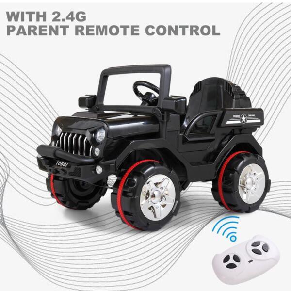 12V Electric Kids Ride-on SUV Toy Car, Black 12v powerful kids electric suv black 2 15