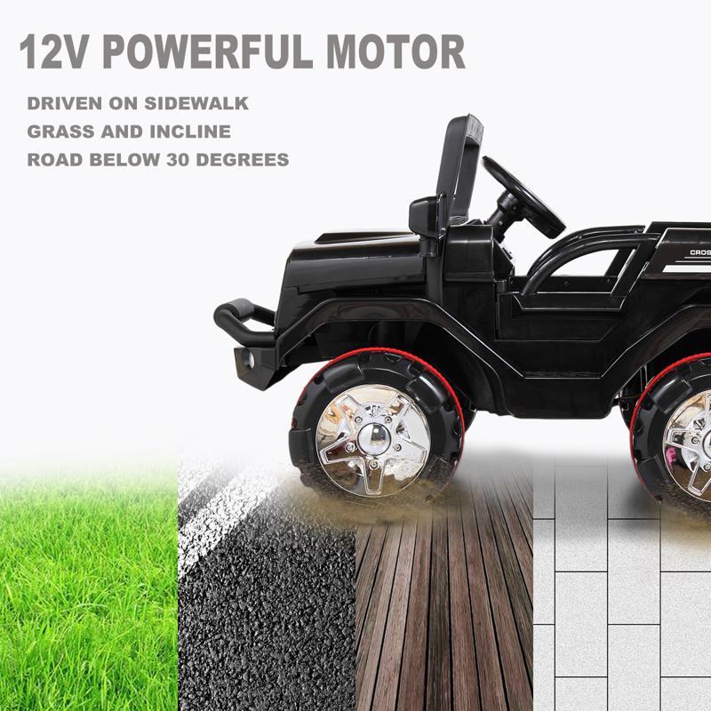 12V Electric Kids Ride-on SUV Toy Car, Black 12v powerful kids electric suv black 2 16 2