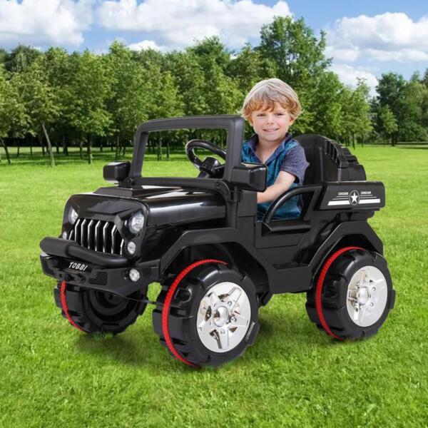 12V Electric Kids Ride-on SUV Toy Car, Black 12v powerful kids electric suv black 2 20