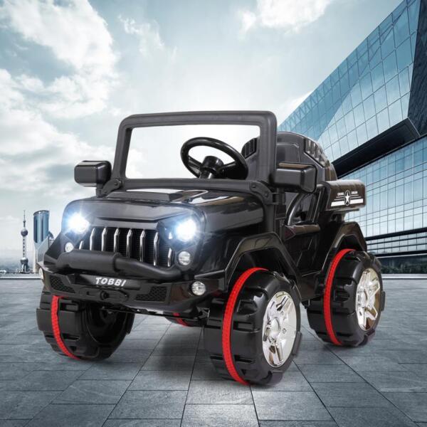 12V Electric Kids Ride-on SUV Toy Car, Black 12v powerful kids electric suv black 2 21