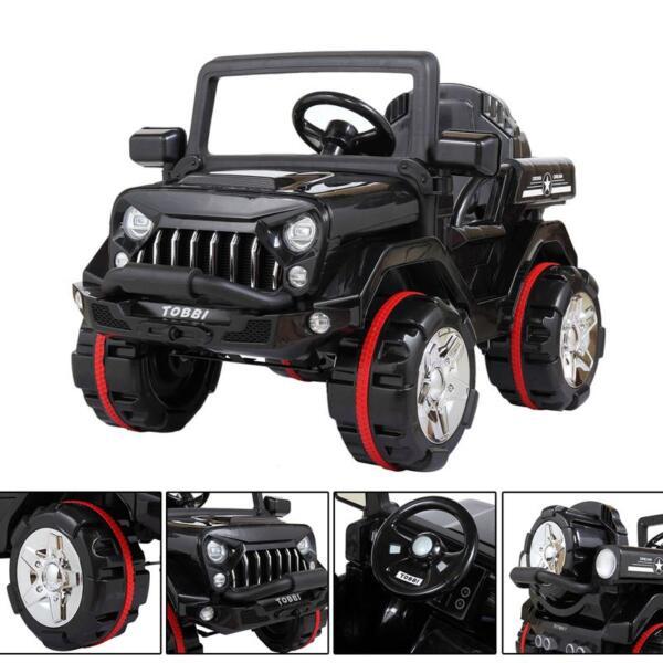 12V Electric Kids Ride-on SUV Toy Car, Black 12v powerful kids electric suv black 2 23