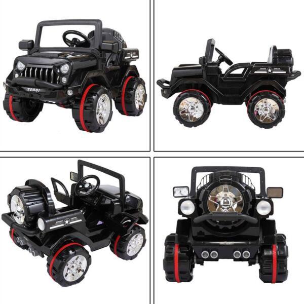 12V Electric Kids Ride-on SUV Toy Car, Black 12v powerful kids electric suv black 2 25