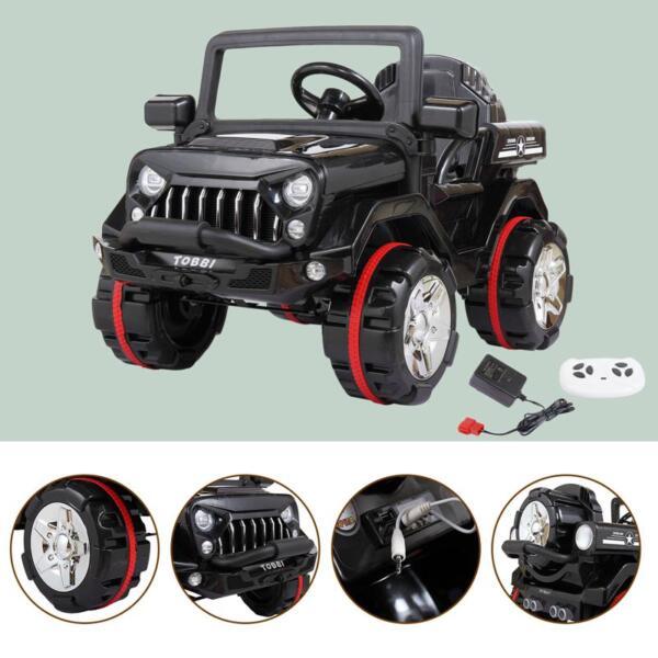 12V Electric Kids Ride-on SUV Toy Car, Black 12v powerful kids electric suv black 2 26 1