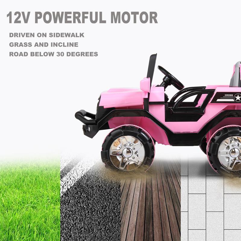 12V Powerful Off-Road Kids Electric SUV Car 12v powerful kids electric suv black 20 2