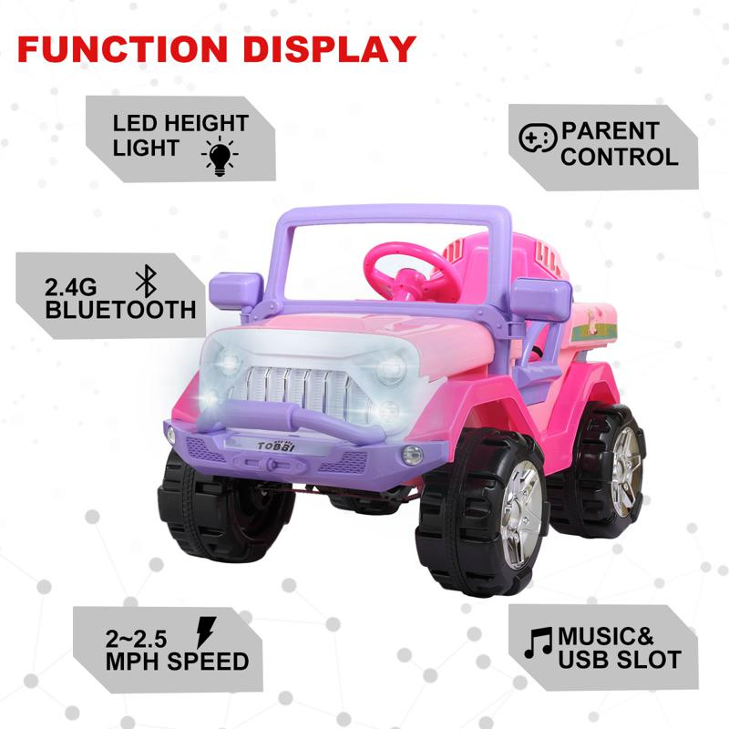 12V Ride-On SUV Toy Car for Toddlers 12v powerful kids electric suv pink 10 2