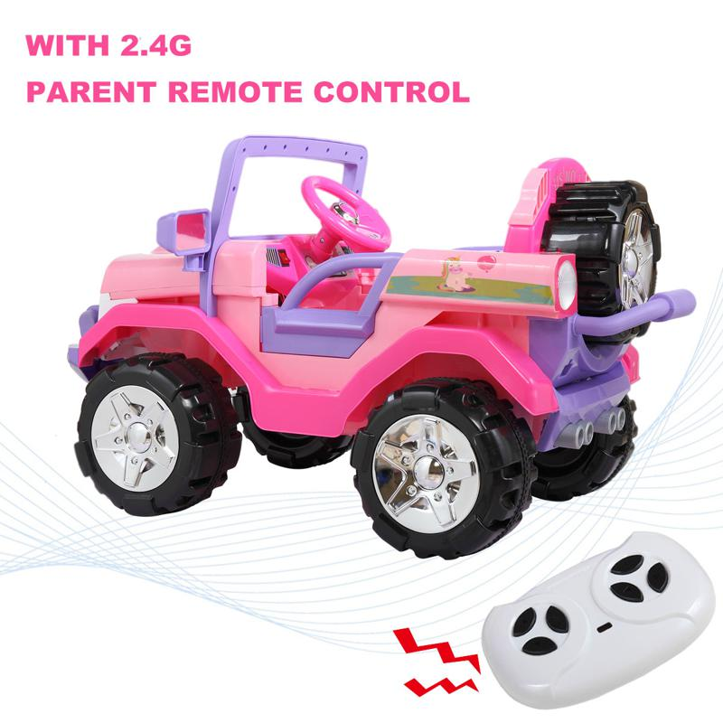 12V Ride-On SUV Toy Car for Toddlers 12v powerful kids electric suv pink 16 1