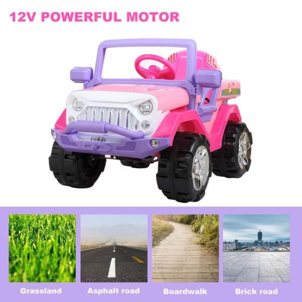12V Powerful Kids Electric SUV, Pink 12v powerful kids electric suv pink 17