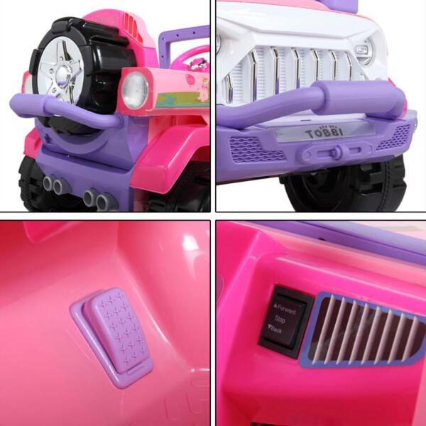 12V Powerful Kids Electric SUV, Pink 12v powerful kids electric suv pink 18 1