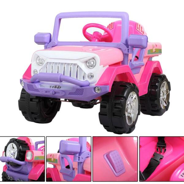 12V Powerful Kids Electric SUV, Pink 12v powerful kids electric suv pink 19