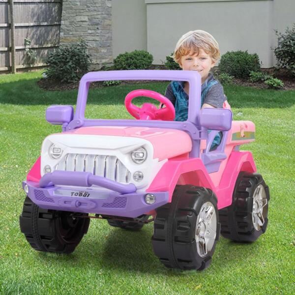 12V Powerful Kids Electric SUV, Pink 12v powerful kids electric suv pink 26