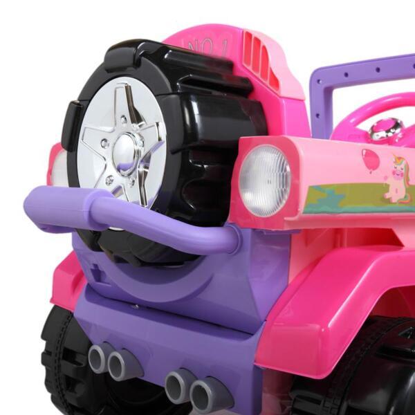12V Powerful Kids Electric SUV, Pink 12v powerful kids electric suv pink 29