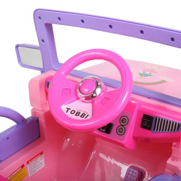 12V Powerful Kids Electric SUV, Pink 12v powerful kids electric suv pink 4