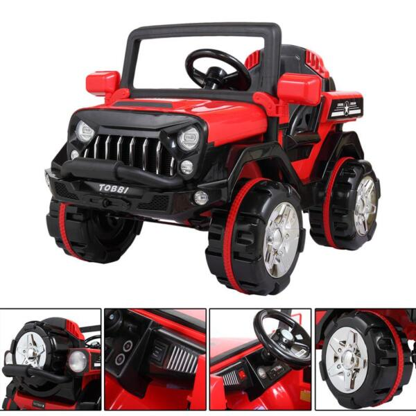 12V Powerful Kids Electric SUV, Red 12v powerful kids electric suv red 10