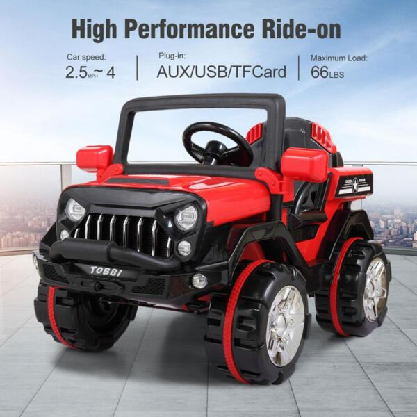 12V Powerful Kids Electric SUV, Red 12v powerful kids electric suv red 14