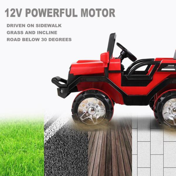 12V Powerful Kids Electric SUV, Red 12v powerful kids electric suv red 21