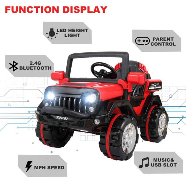 12V Powerful Kids Electric SUV, Red 12v powerful kids electric suv red 23