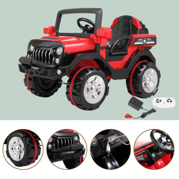 12V Powerful Kids Electric SUV, Red 12v powerful kids electric suv red 24 1