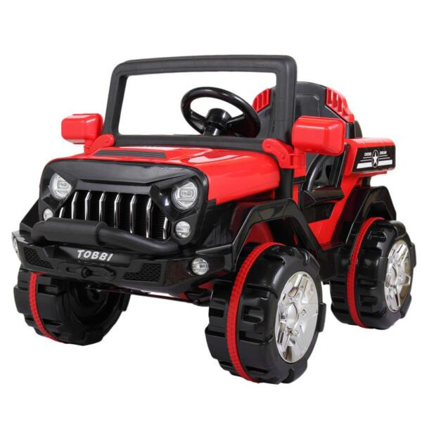 12V Powerful Kids Electric SUV, Red 12v powerful kids electric suv red 4