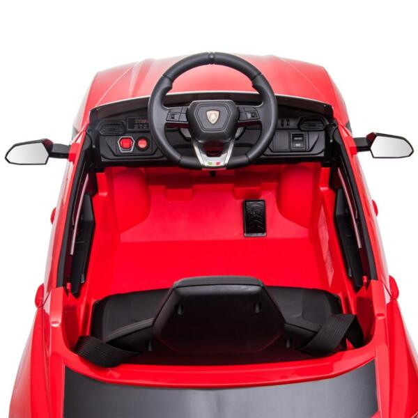 12V Lamborghini Ride On Car With Remote Control, Red 12v remote control kids electric police car red 31 1