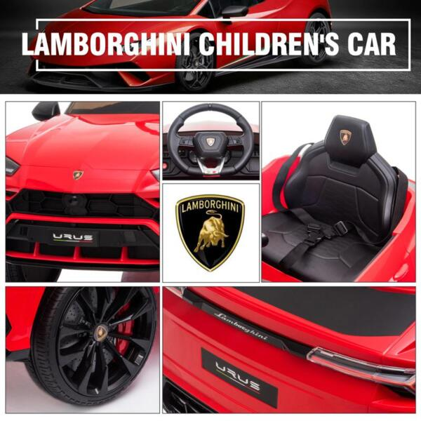 12V Lamborghini Ride On Car With Remote Control, Red 12v remote control kids electric police car red 39 1