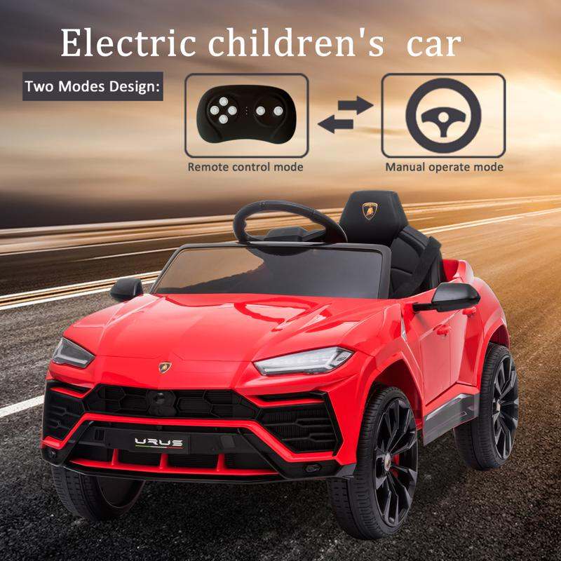 12V Lamborghini Ride On Car With Remote Control, Red 12v remote control kids electric police car red 40 2